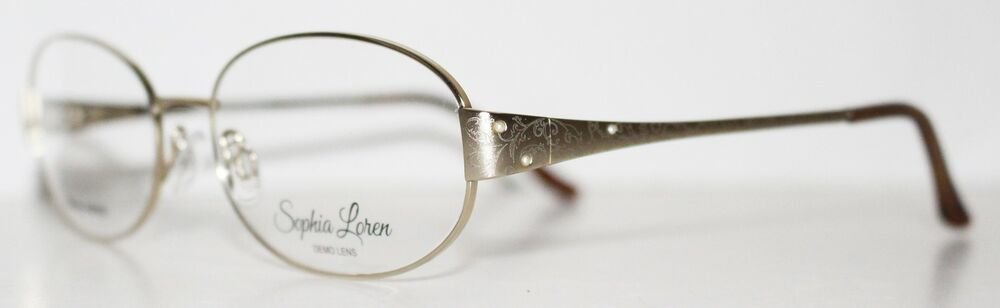 e4f54a8b8b Details about SOPHIA LOREN M224 057 SATIN GOLD New Optical Eyeglass Frame  For Women
