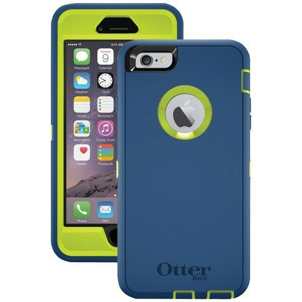 otterbox defender iphone 6 plus otterbox defender for iphone 6 6s plus blue lime 17884