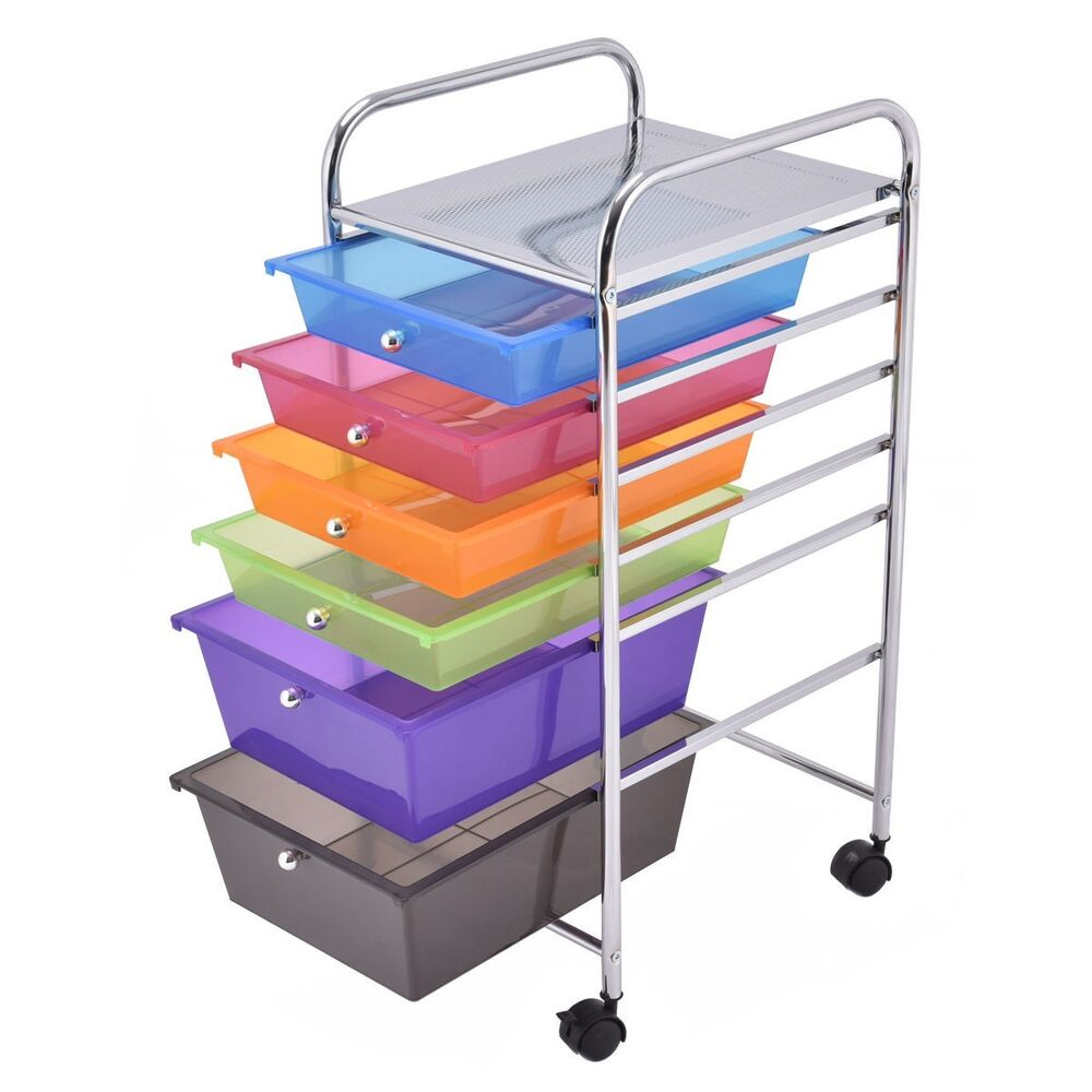 rolling storage carts us 6 drawer rolling storage cart tools scrapbook paper 25642