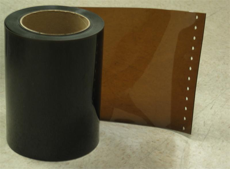 Details about Plastic Strip Curtain Rolls Amber Weld Color. 12