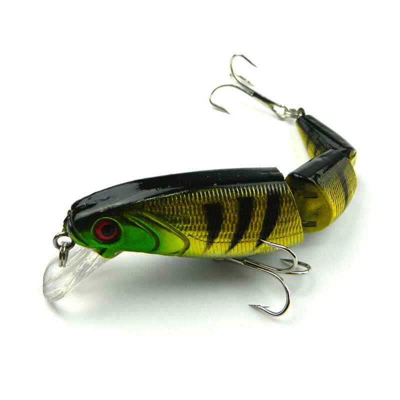 New 3 segment minnow swimbait lures crank bait baits hard for Fishing lures ebay