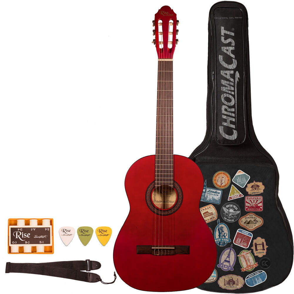 rise by sawtooth beginner acoustic guitar with accessories ebay. Black Bedroom Furniture Sets. Home Design Ideas