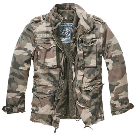 img-Brandit M-65 Giant Jacket Tactical Mens Warm Field Parka Light Woodland Camo