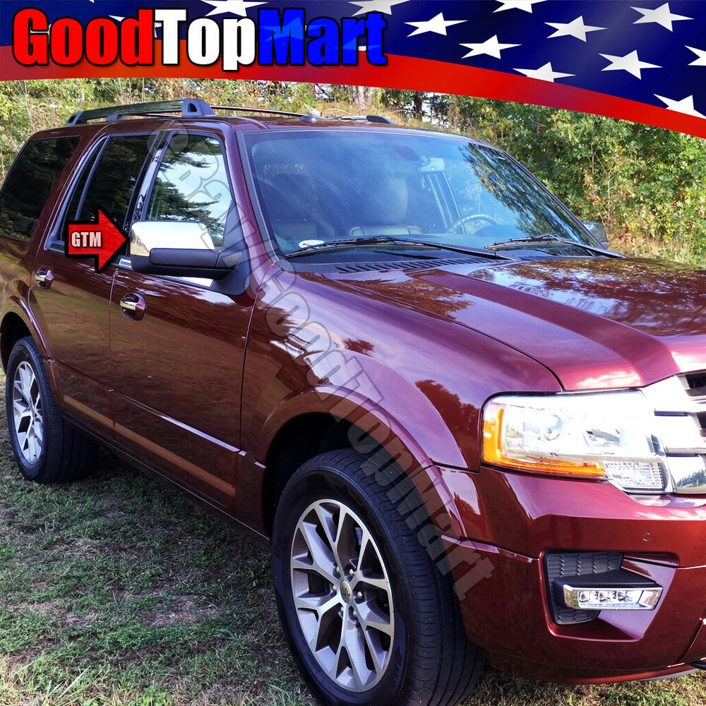 For 2007 2017 Ford Expedition 2 Chrome Top Half Cap Mirror Covers Ebay