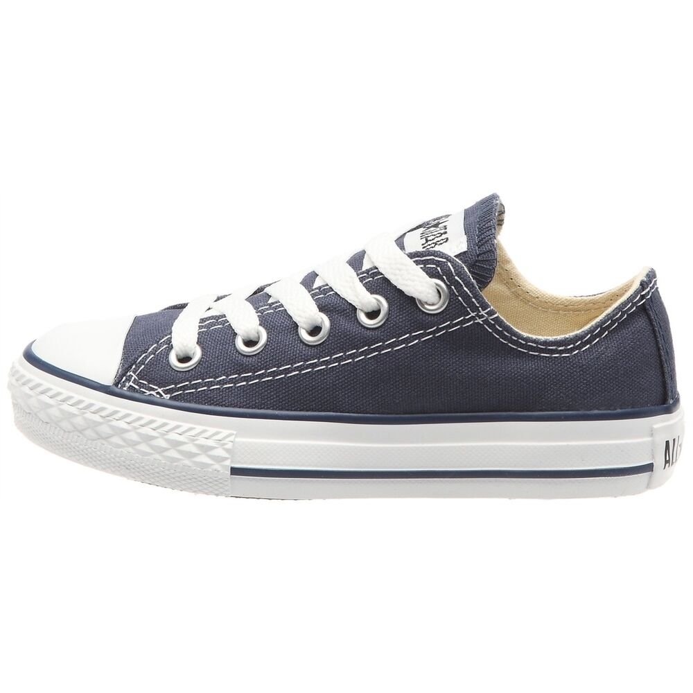 52206e95717 Details about Kids Converse Shoes Navy Blue All Star Chuck Taylor 3J233  Sneakers NEW