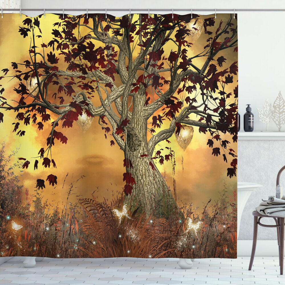 Old Twisted Tree Fabric Shower Curtain Extra Long 84 Inch ...