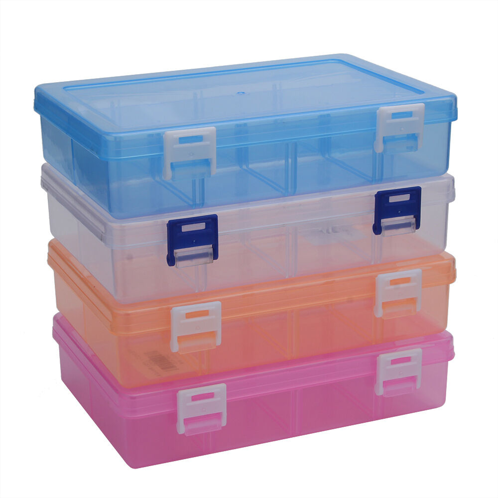 2 compartments plastic jewelry bead hardware tool storage container ebay