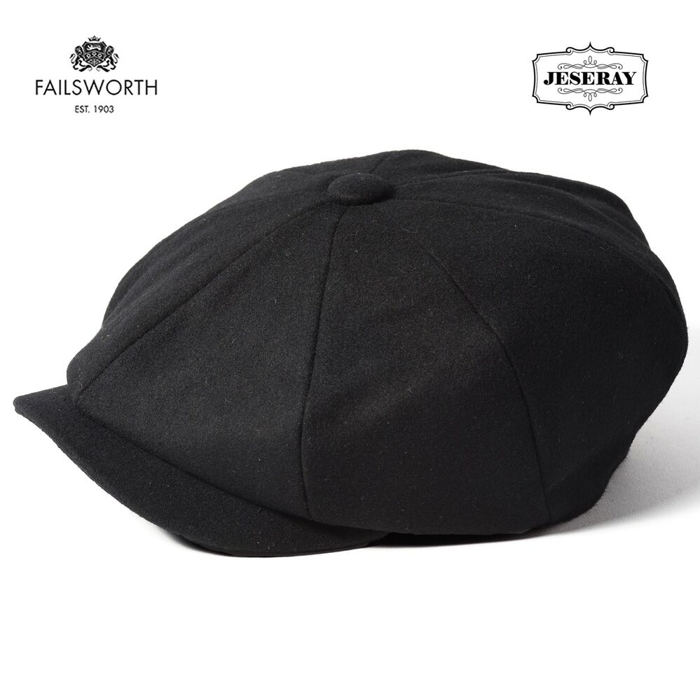 Failsworth Melton Dark Grey Wool Newsboy Peaky Blinders Style Cap Hat  c75473477d91