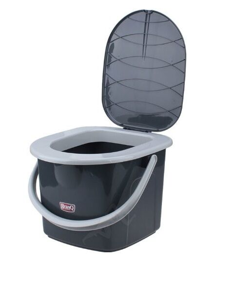 16l portable camping toilet bucket seat detachable lid. Black Bedroom Furniture Sets. Home Design Ideas