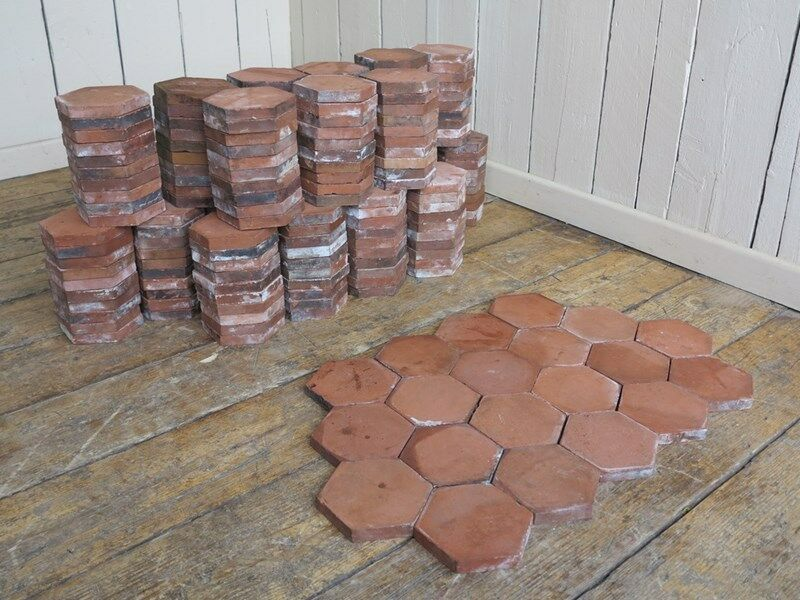 Reclaimed Hexagonal Terracotta Quarry Floor Tiles
