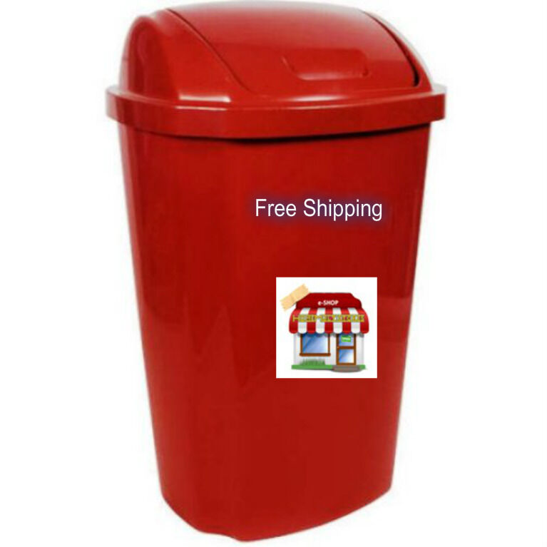 Lid Hefty Swing 13 5 Gallon Trash Can Garbage Red Plastic