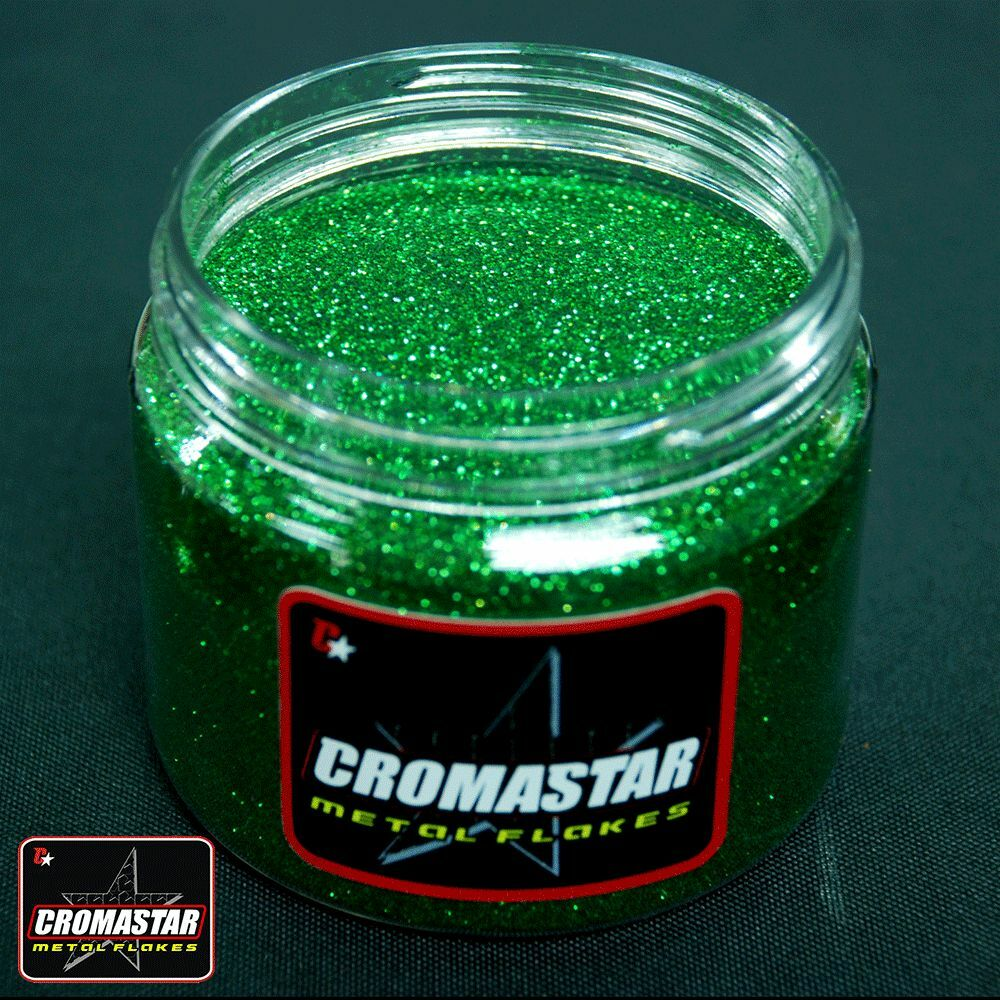 Metal flake intense green automotive paint ebay for Pearls paint supply