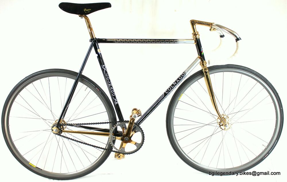 Vintage LUXURY TRACK BIKE COLNAGO ESAMEXICO GOLD PLATED ...