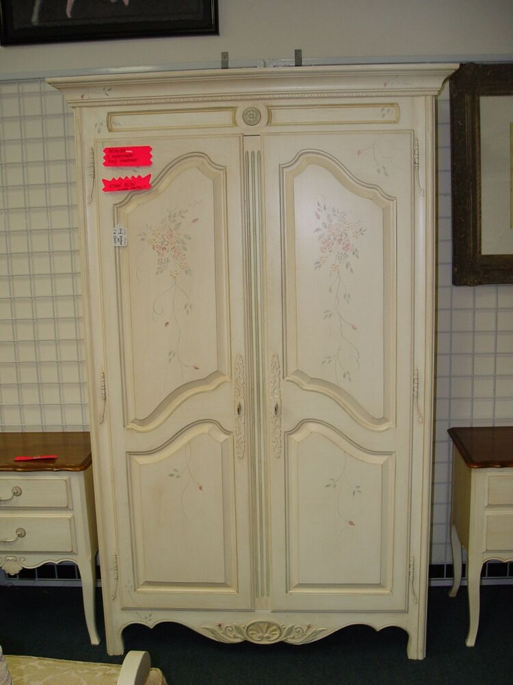 Ethan Allen French Country Hand Painted Armoire Wardrobe Ebay