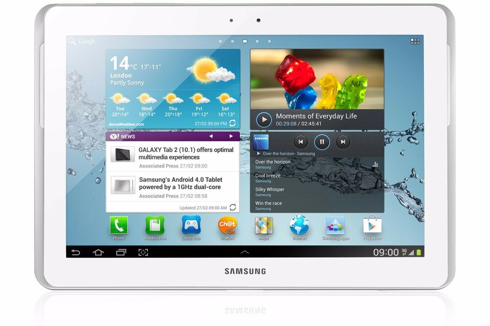 samsung galaxy tab 2 10 1 p5100 white black 16gb 10 1 hd android tablet ebay. Black Bedroom Furniture Sets. Home Design Ideas