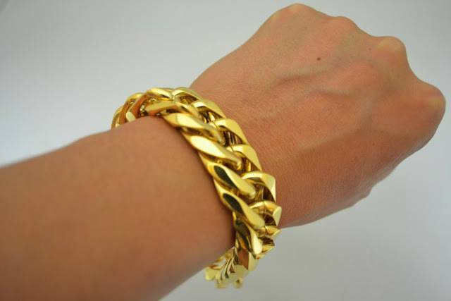 Men S 24k Gold Overlay Big Miami Cuban Link Jay Z Style
