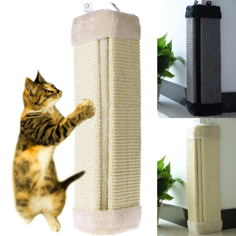 New Pet Cat Kitten Corner Wall Hanging Scratching Board