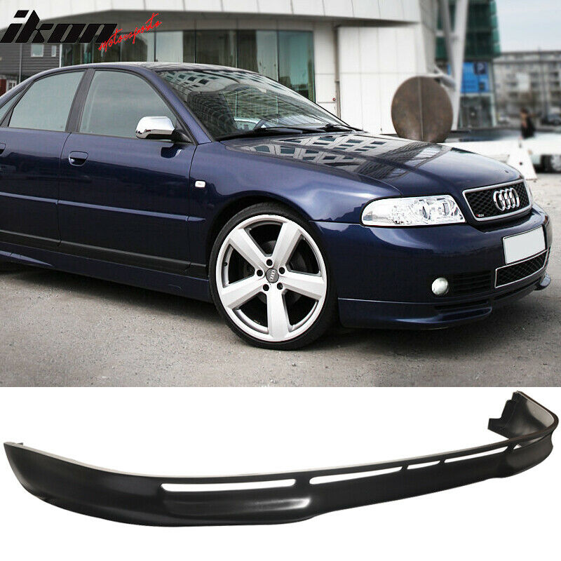 fits 96 01 audi a4 b5 4dr l type front bumper lip spoiler poly urethane pu ebay. Black Bedroom Furniture Sets. Home Design Ideas