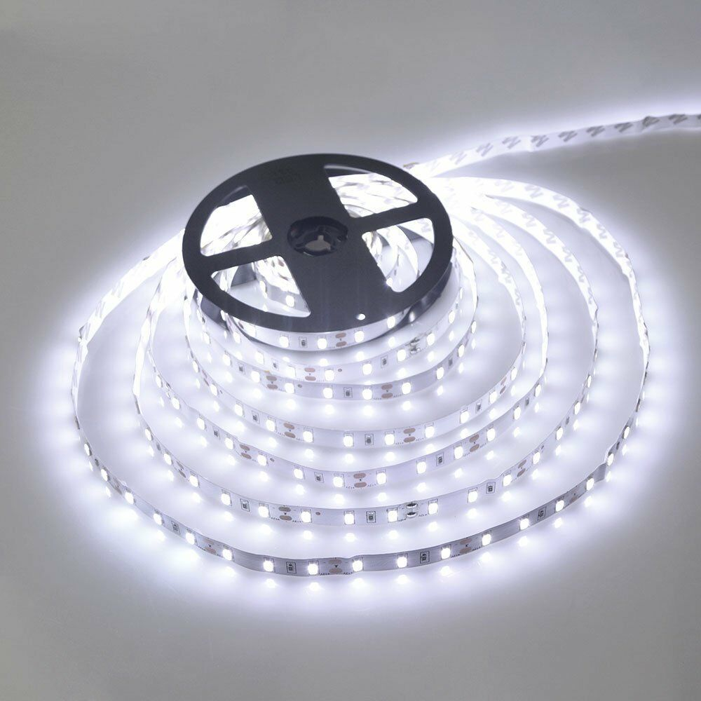 Led Waterproof Strip Lights White Flexible Rope Lighting Tape Light 12 Volt Ebay