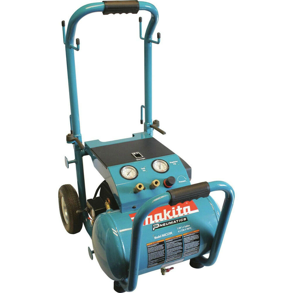 Makita 5.2 Gallon Wheeled Dolly-Style Air Compressor MAC5200 Reconditioned | eBay