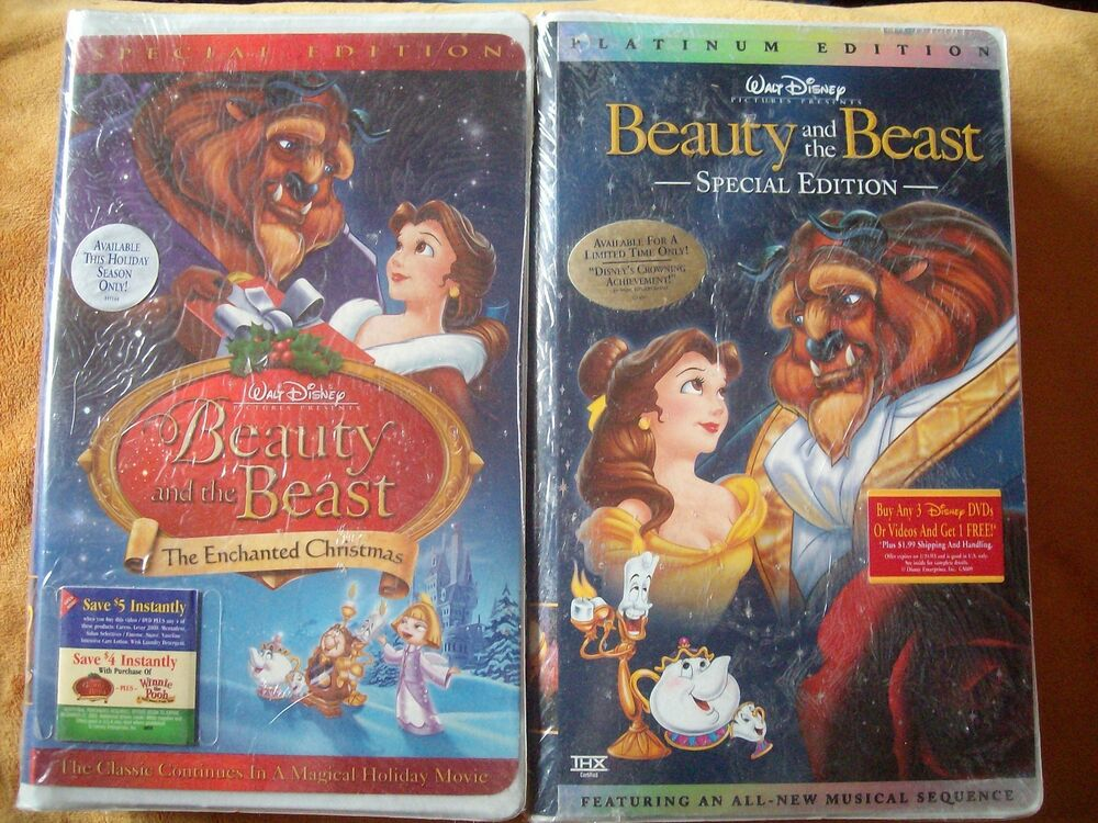 beauty and the beast platinum edition vhs the