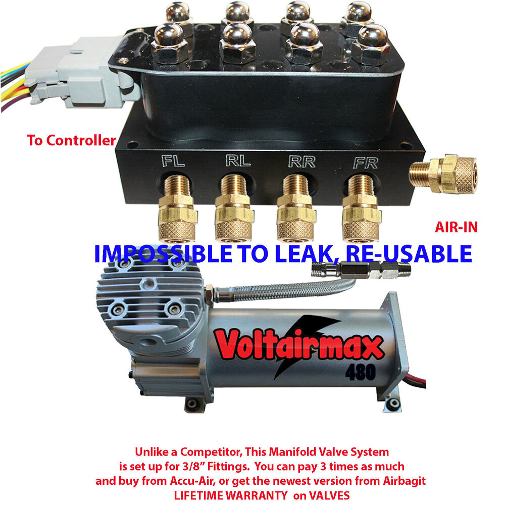 accurate air v4 solenoid valve manifold suspension harness