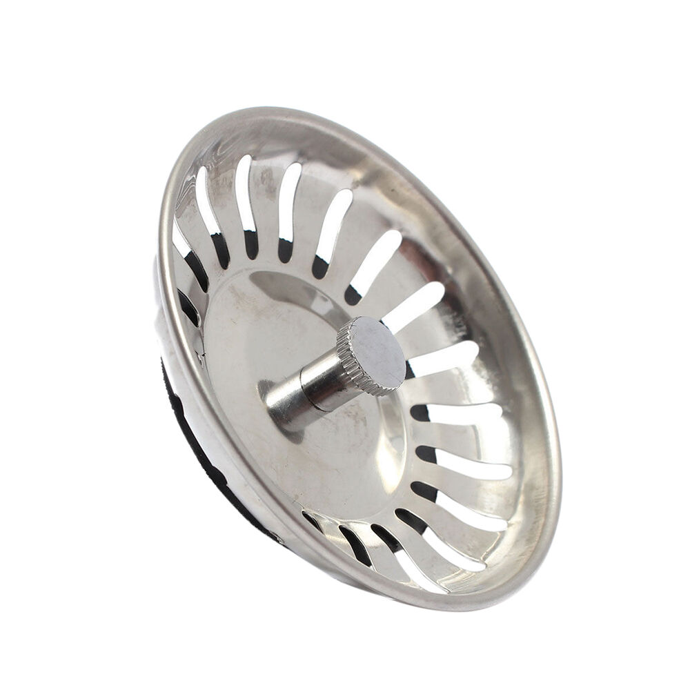 kitchen sink basket strainer waste plug stainless steel home kitchen sink drain stopper basket 9539