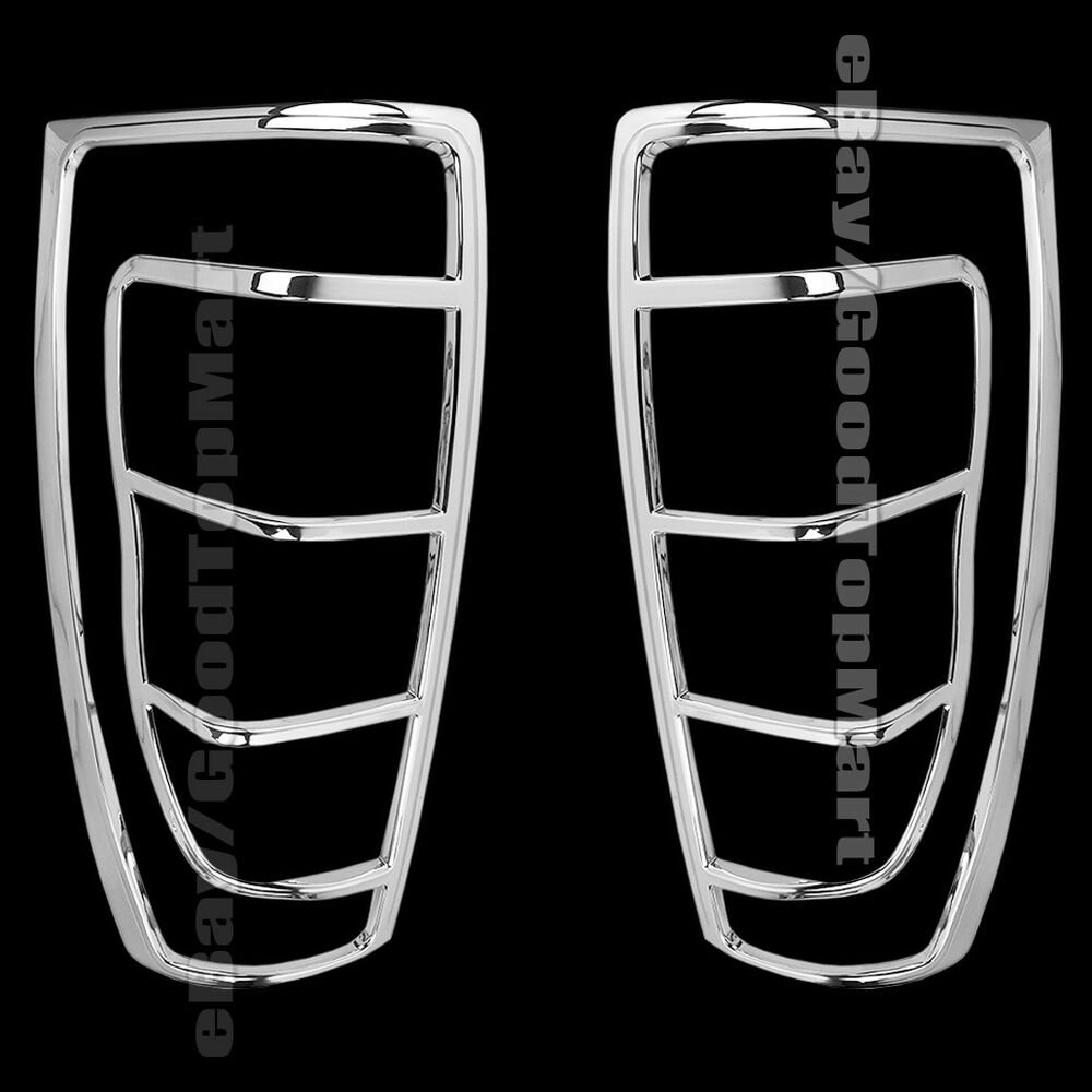 for 2002 2004 2005 2006 chevy avalanche chrome tail light taillight bezel covers ebay. Black Bedroom Furniture Sets. Home Design Ideas