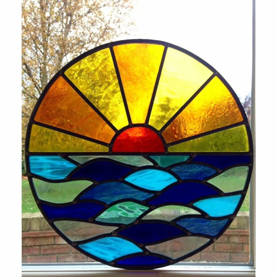S Simple Oval Stained Glass