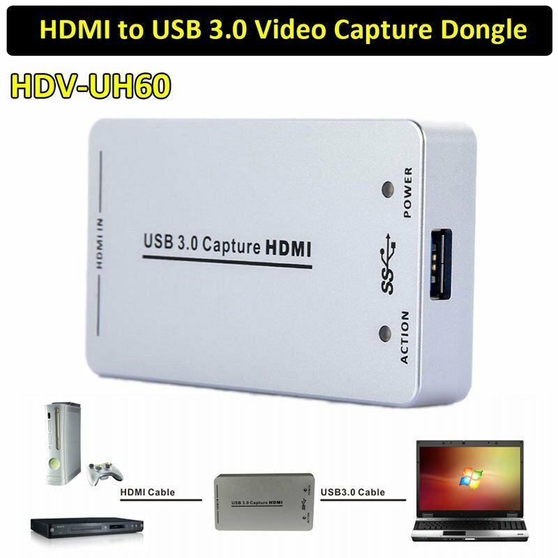 hdmi to usb 3 0 capture card device dongle 1080p video audio adapter win mac usa ebay. Black Bedroom Furniture Sets. Home Design Ideas