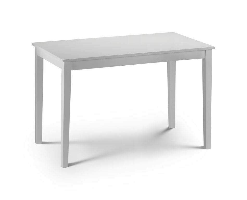 Taku Satin White Rectangle Dining Table Ebay