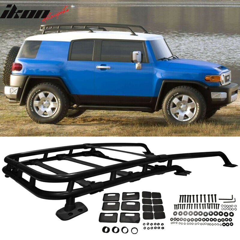 07 14 Toyota Fj Cruiser Offroad Type Roof Rack Rail Cross