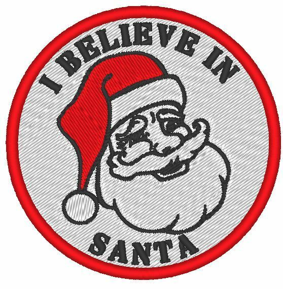 Airsoft cosplay morale patch quot i believe in santa fully