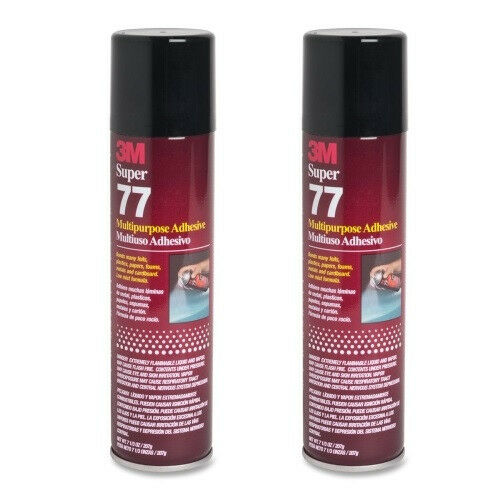 2 cans 3m super 77 glue multipurpose adhesive for foil for Best glue for craft foam