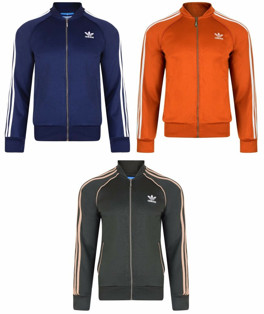 mens new adidas originals supertsar full zip track top. Black Bedroom Furniture Sets. Home Design Ideas