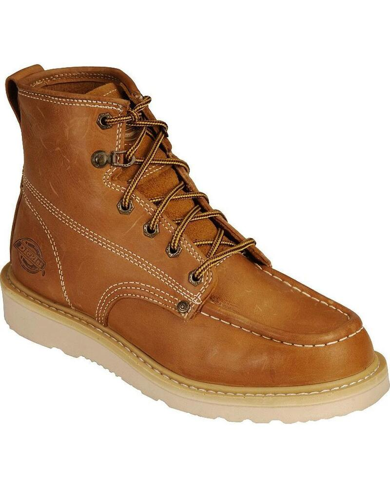 New Dickies Trader Wedge Bottom Work Boots Tan Iron Worker ...