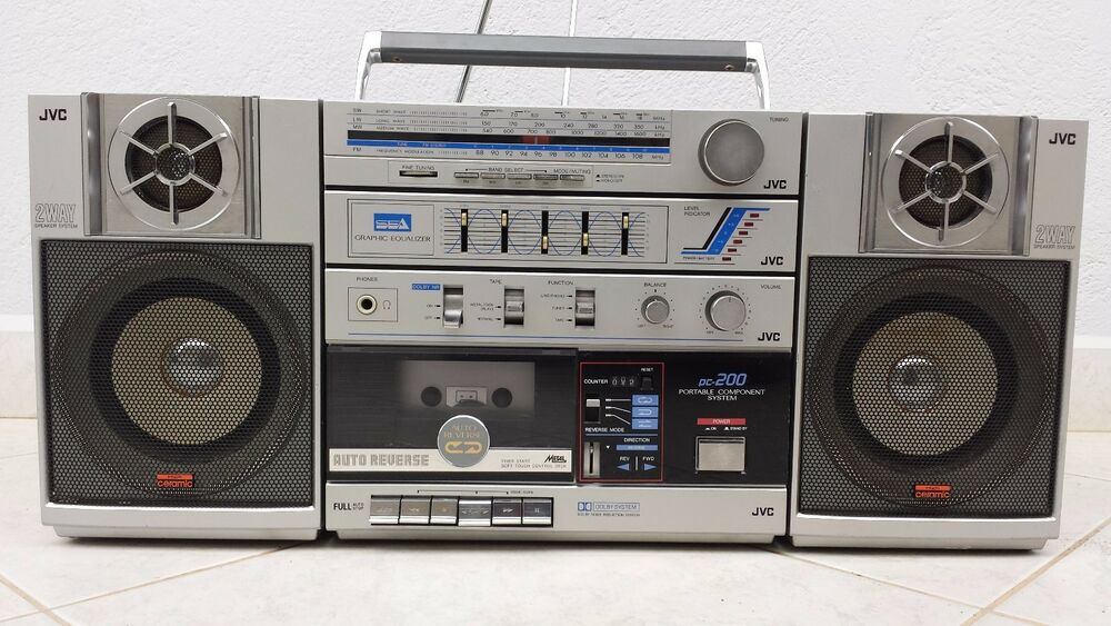 vintage jvc pc200c boombox ghetto blaster stereo ebay. Black Bedroom Furniture Sets. Home Design Ideas