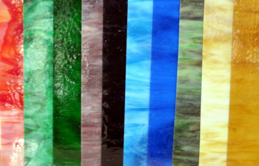 6 Quot X8 Quot 8 Variety Glass Pack Stained Glass Sheets Ebay