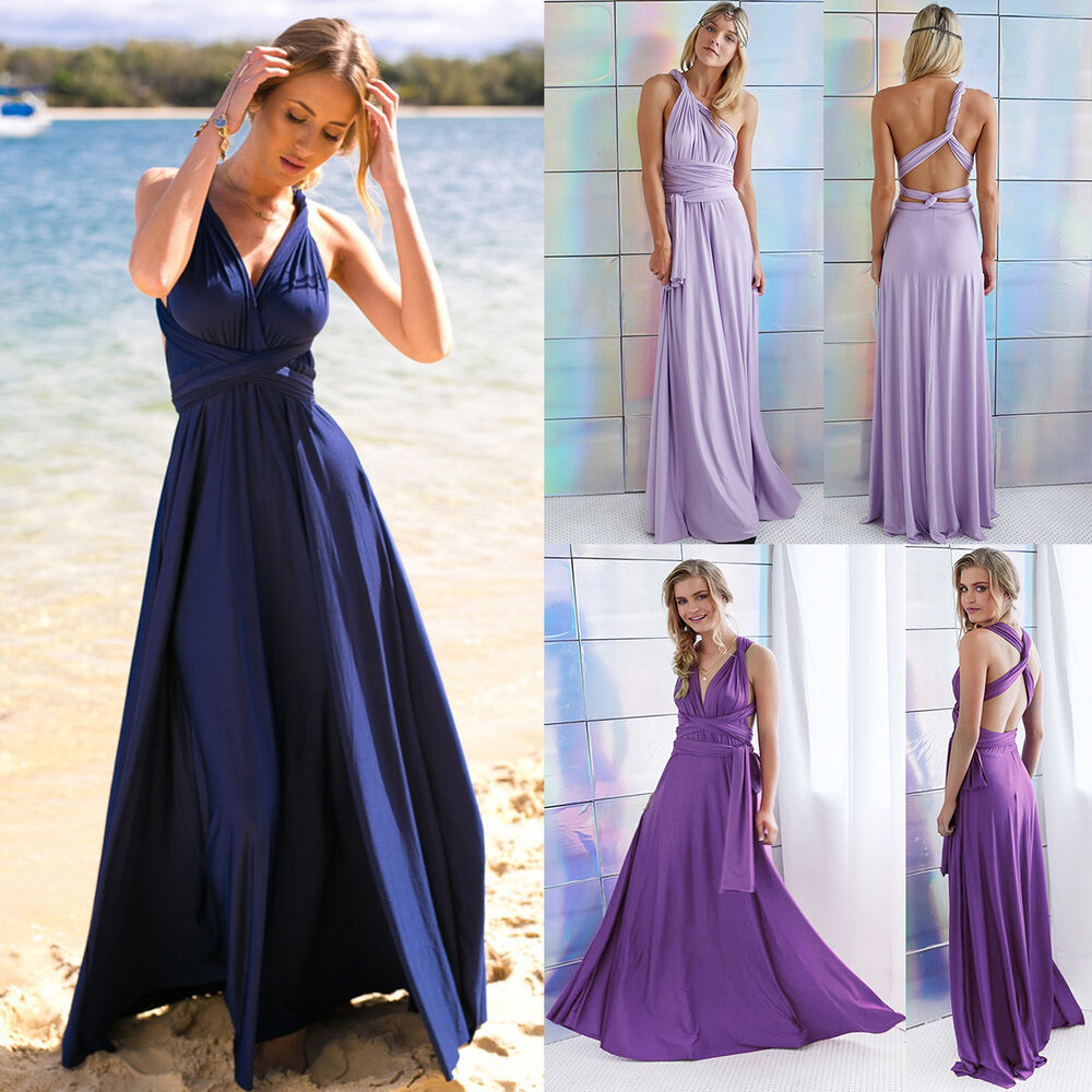 Multi wrap dress ebay women evening dress convertible multi way wrap bridesmaid formal long dresses ombrellifo Gallery