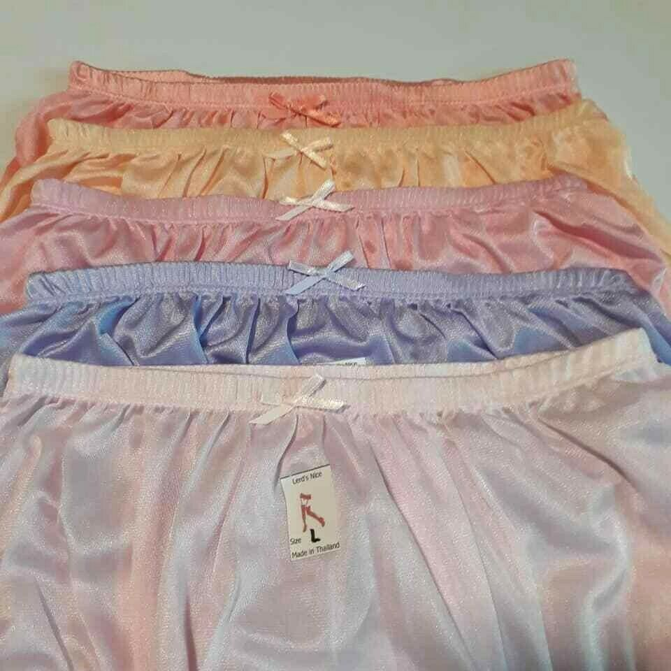 5 Sweet Color L Vintage Nylon Satin Knickers Panties ...