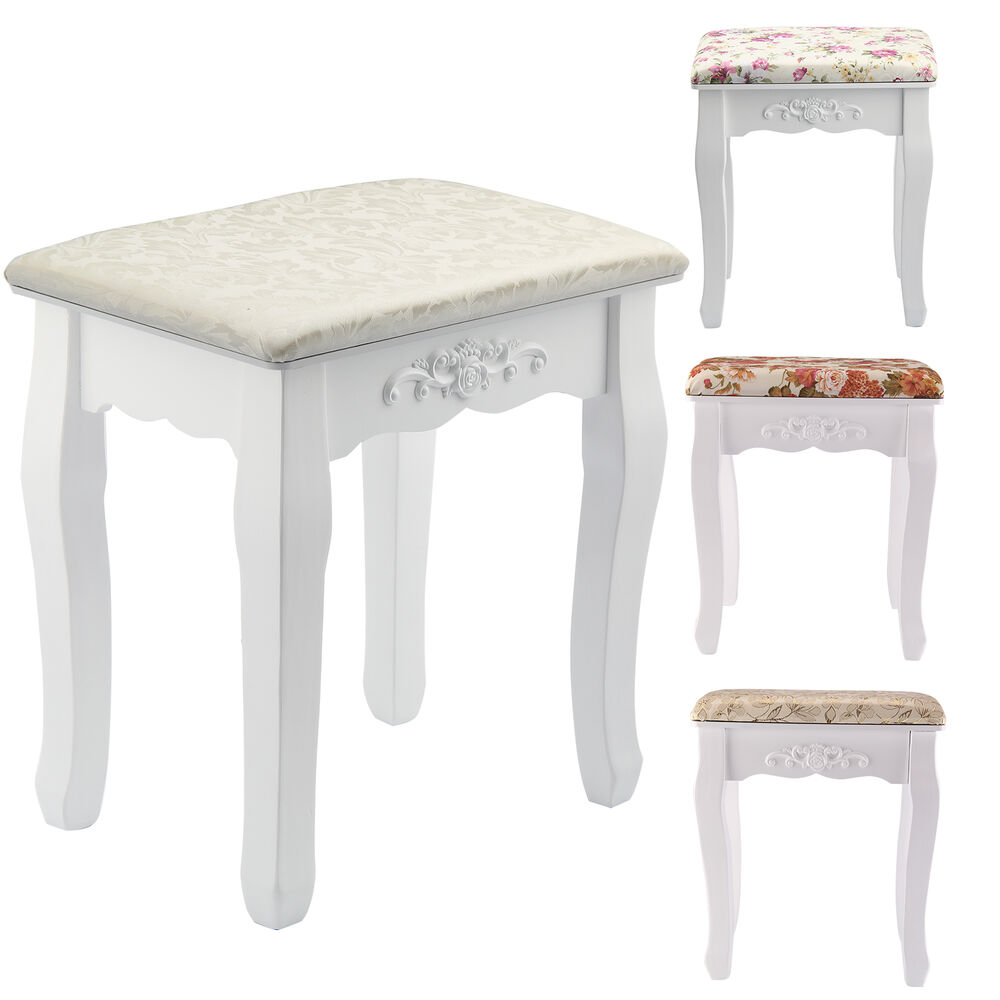 New Vintage Dressing Table Stool Soft Padded Piano Room