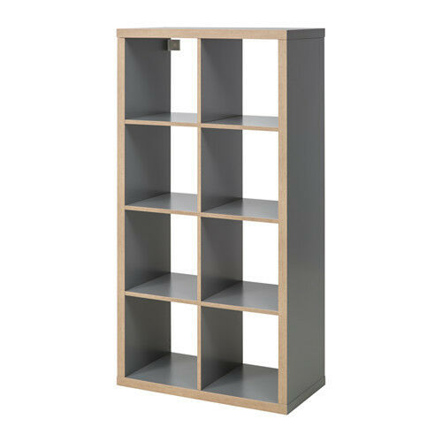 ikea kallax regal in grau holzeffekt 77x147cm raumteiler expedit kompatibel ebay. Black Bedroom Furniture Sets. Home Design Ideas
