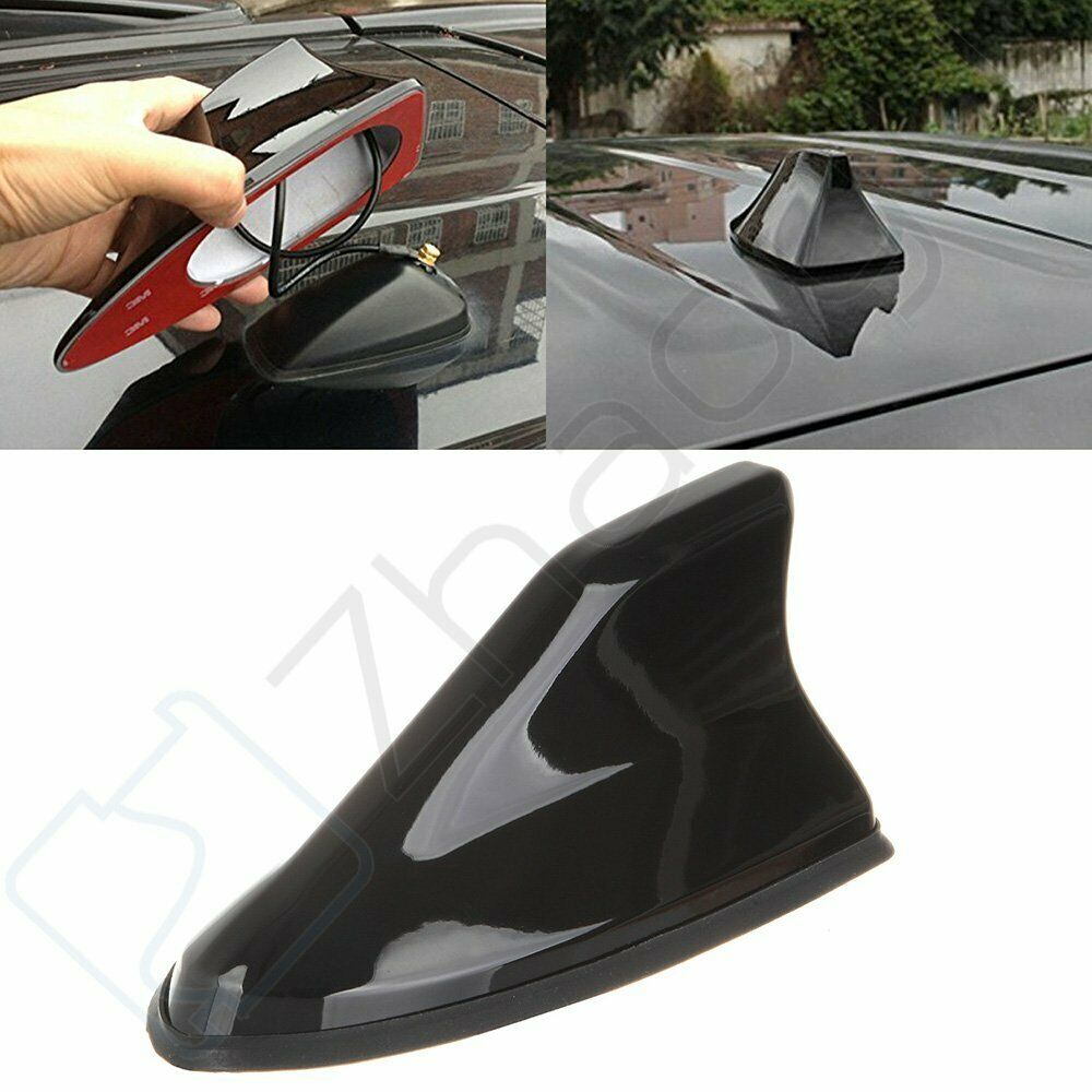 black universal suv car roof radio am fm signal shark style aerial fin antenna ebay. Black Bedroom Furniture Sets. Home Design Ideas