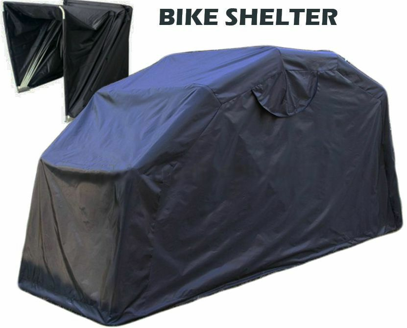 Motorcycle Covers For Outside Storage : Outside bike barn motorcycle storage driveway motorbike