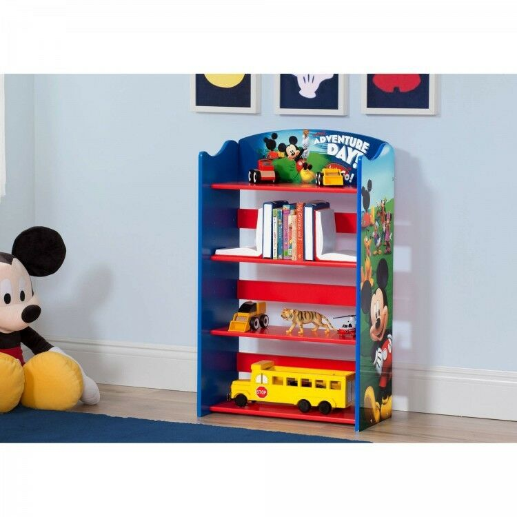 Mickey Mouse Bookshelf Childs Play Room Furniture Durable And Easy To Clean