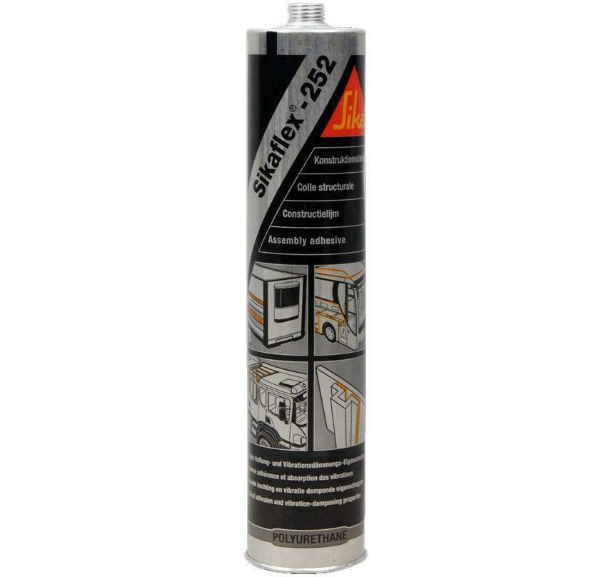 sika sikaflex 252 assembly adhesive white 300ml elastic bonding structural joint ebay. Black Bedroom Furniture Sets. Home Design Ideas