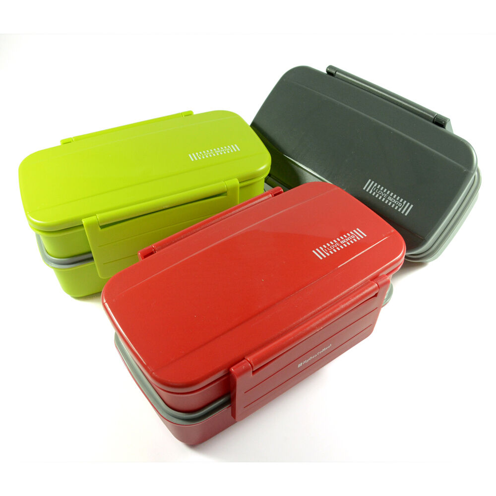 candy color japanese 2 tier bento box lunch box for adults bpa free plastic. Black Bedroom Furniture Sets. Home Design Ideas