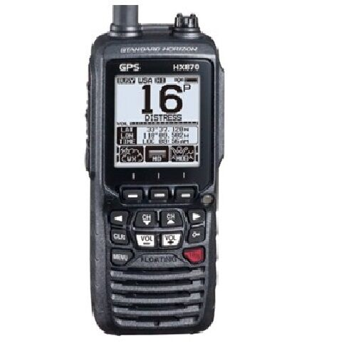 standard horizon hx870e vhf dsc handheld radio with uk charger ebay. Black Bedroom Furniture Sets. Home Design Ideas