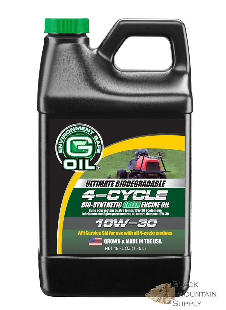 Small engine oil 4 cycle bio synthetic 10w 30 grown for 10w 20 motor oil