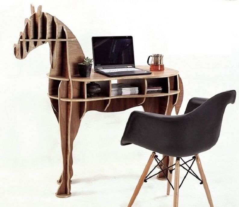 Unusual Horse Desk Coffee Table Wooden Home Office Furniture 48 8 Ebay